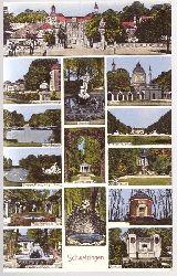 3 Ansichtskarten Schwetzingen (14 Motive)