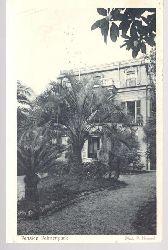 Ansichtskarte Nervi bei Genova (Riviera) Pension Palmenpark, Bes. Frau Hagenmeyer, Frl. Heidenreich
