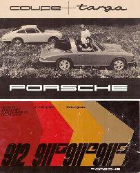 Werbebroschüre Porsche Targa coupe 912 / 911 T / 911 L / 911 S