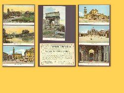 7 Ansichtskarten Roma (hinten mit ganzseitiger Werbung (sog. Kaufmannsbilder) für Loeflund`s diaetetische Präparate (Ed. Loeflund in Grunbach bei Stuttgart)