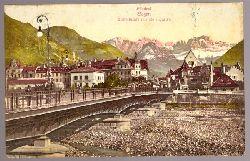 Ansichtskarte AK Bozen. Talferbrücke mit Rosengarten