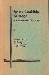 Spitz, E.  Heimatkundliche Beiträge zum Amtsbezirk Ettlingen