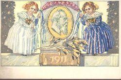 Ansichtskarte Künstler-AK v. Ivi Diez. Ganzsache 1911