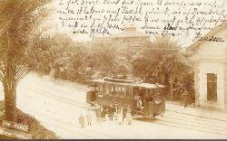 Ansichtskarte AK Pegli. Giardino Pubblico mit Straßenbahn