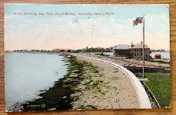 Ansichtskarte AK View showing Sea Wall, Point Shirley Winthrop Beach, Mass.