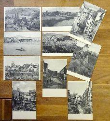 10 Ansichtskarten AK Gustav Schönleber (Mühle bei Vellberg, Besigheim, Sersheim im Vorfrühling, Sersheim, Frühling in Esslingen, Esslingen am Kesselwasen, Alt-Esslingen, Alt-Esslingen (1880), Esslingen Wolfstor, Hegensberg bei Esslingen)