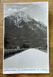 Ansichtskarte AK Zufahrtstraße zur Reichsautobahn bei Piding