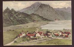 Ansichtskarte AK Künstlerkarte Bühl a. Alpsee, bayr. Allgäu v. G. Hammerschmidt