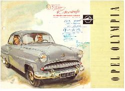 Autohaus Fritz Opel  Orig. Werbeprospekt für Opel Olympia (1,5 L, 40 PS)