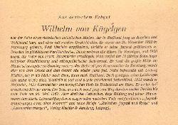 """Mensching, Wilhelm (Bückeburg, Freundschaftsheim); und Walter Heide:  Wilhelm von Kügelgen (a.d. Reihe: """"Aus deutschem Erbgut"""")  1. Auflage"""