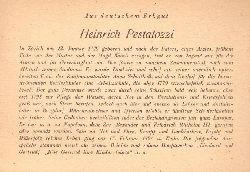 """Mensching, Wilhelm (Bückeburg, Freundschaftsheim); und August Kricke:  Heinrich Pestalozzi (a.d. Reihe: """"Aus deutschem Erbgut"""")  1. Auflage"""