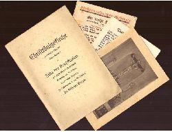 Christkönigskirche Karlsruhe-Rüppurr, Tulpenstraße 1 (Feier der Konsekration am Feste Mariä Mutterschaft Sonntag den 11. Oktober durch seine Exzellenz Hochwürdigsten Herrn Weihbischof Dr. Wilhelm Burger)