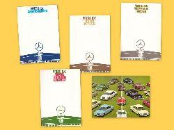 Sammlung von 7 Verkaufsschriften v. Mercedes Benz