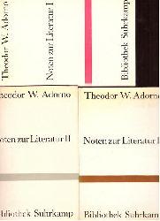 Adorno, Theodor W.  Noten zur Literatur I + II + III
