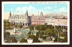 Ansichtskarte AK Habana. Parque Central, Hotel Inglaterra, Teatro Nacional, Opera House