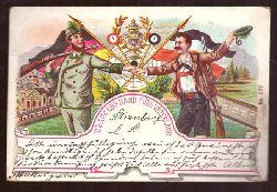 Ansichtskarte AK Straubing. Ueb Aug und Hand fürs Vaterland (Schützen, Schützenfest. Litho)