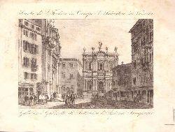 """Stahlstich """"Scuola di S. Teodoro in Campo S. Salvatore in Venezia. Galleria"""""""