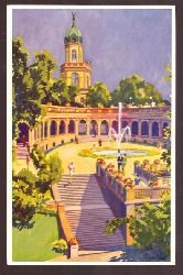 Ansichtskarte AK Das schöne Breslau. Liebichshöhe (Künstlerkarte v. van Hout)