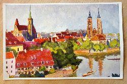 Ansichtskarte AK Das schöne Breslau. Dominsel (van Hout)