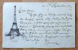 Ansichtskarte AK Paris. Tour Eiffel (Eiffelturm) (frühe Postkarte v. Eiffelturm)