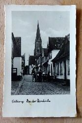 Ansichtskarte AK Schleswig. Bei der Domkirche (Gasse)