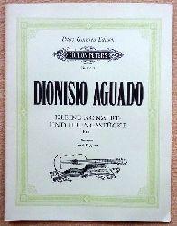 Aguado, Dionisio  Kleine Konzert- und Übungsstücke Heft 1 (Hg. Rene Kappeler)