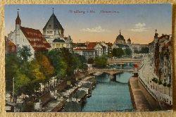 Ansichtskarte AK Straßburg. Illpanorama (Feldpostkarte 2. Battl. 10. bay. Res. Feldart.Regts.Feldpoststation 126)