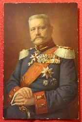 Ansichtskarte AK Generalfeldmarschall v. Hindenburg (Nach Original-Aufnahme v. E. Bieber)