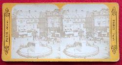 Paris - ohne Angaben:  Original Stereoskopie.-Fotografie (Stereobild. Stereophotographie). Place de la Victoire