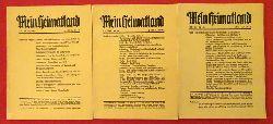 Busse, H.E. (Hg.):  Mein Heimatland, Heft 1+2+3, 1939 (Badische Blätter für Volkskunde, Heimat- und Naturschutz, Denkmalpflege, Familienforschung und Kunst)  3 Hefte