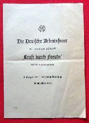 """Erler, Otto und Johannes (Inszenierung) Maurach  Theaterprogramm """"Struensee"""" (Drama in 5 Aufzügen) März 1942"""