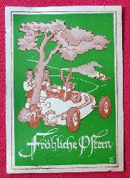 Ansichtskarte AK Fröhliche Ostern (Osterhase im Rennwagen. Künstlerkarte v. ET)
