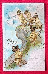 Ansichtskarte AK Ein frohes Osterfest (5 Bersteiger-Küken)