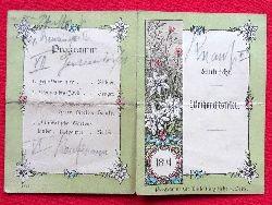 Einladung / Karte Tanz-Programm der Gesellschaft Eintracht zur Weihnachtsfeier 1894 (innen 13 Tänze mit hs. Eintragungen der Tanzpartner)