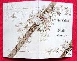Einladung / Karte der Gesellschaft Eintracht zum Ball am 12. Januar 1895 (innen 12 Tänze mit hs. Eintragungen der Tanzpartner)