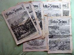 Forster, J.M.:  Neue freie Volks-Zeitung XVII. Jahrgang No. 268, 271, 291, 293 / 1889 + No. 7, 8, 19, 33, 54, 92, 100, 107, 116, 125, 249, 256 / 1890 + Nr. 84, 85, 91, 98, 100, 107, 125, 130 / 1891 24 Ausgaben