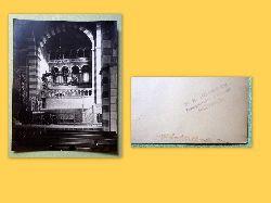 Bödeker, F.H. (Franz Heinrich)  Originalfotografie. Kircheninneres mit riesigem Leuchter