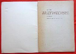 Einstein, Albert  Aus dem Briefwechsel Einsteins mit Max und Hedwig Born (Vortrag Max Borns v. 30. Juni 1965)