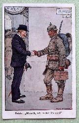 """Ansichtskarte AK """"Beide: """"Mensch, wie siehst Du aus!"""" (Gezeichnet v. Fritz Schoen)"""