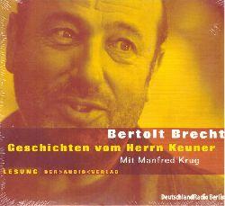 Brecht, Bertolt  CD Geschichten vom Herrn Keuner (Lesung mit Manfred Krug)