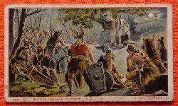 Reklamebild / Kaufmannsbild / Sammelbild Fr. David Söhne, Halle (Serie 16 Bild No. 9 Deutsche Geschichte in Bildern (100n.Chr. Versammlung in Vollmondnacht unter Leitung des Priesters)