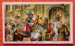 Reklamebild /  Kaufmannsbild / Sammelbild Fr. David Söhne, Halle (Serie 25 Bild No. 65 Deutsche Geschichte in Bildern (31. Oktober 1517. Luther schlägt die 93 Thesen an die Schlosskirche zu Wittenberg)