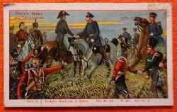 Reklamebild /  Kaufmannsbild / Sammelbild Fr. David Söhne, Halle (Serie 82 Bild No. 404 Deutsche Geschichte in Bildern (18. Juni 1815 Fürst Blücher und Lord Wellington)