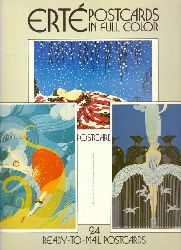Erté:  Erté. Postcards in Full Color (24 Ready-to-Mail Postcards)  1.st.