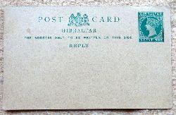 postcard / Ganzsache Gibraltar 5 centimos grün
