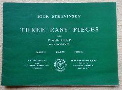 Stravinsky, Igor  Three Easy Pieces for Piano Duet Left Hand Easy) (March, Waltz, Polka)