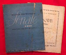 Furtwängler, Wilhelm  Sonate D-Dur für Violine und Klavier (Bezeichnet und mit Fingersätzen versehen von Georg Kulenkampff)