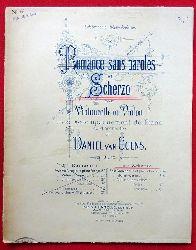 van Goens, Daniel  Romance sans paroles rt Scherzo pour Violoncelle ou Violon avec accompagnement de Piano ou d