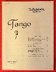 Albeniz, Isaac  Tango Opus 165 No. 2 (Violoncello und Piano)