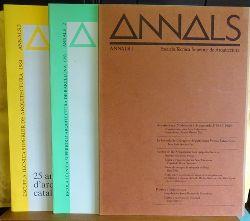 Diverse  ANNALS 1 (1983), 2 (1983), 3 (1984) (Escuela Tecnica Superior de Arquitectura (de Barcelona))